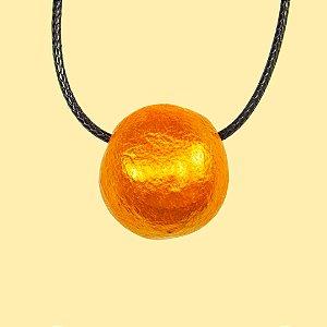 Colar para Aromaterapia Esfera Dourada