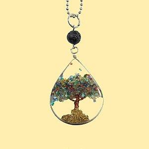 Colar Árvore da Vida Orgonite para Aromaterapia