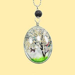 Colar Árvore da Vida Butterflies para Aromaterapia