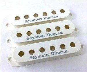 Jogo 3 Capas Seymour Duncan S-Cover Strato Com Logo, Parchment
