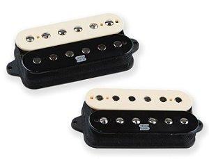 Captadores (Par) Guitarra Duality Humbucker Set, Ativo, Alnico 2, Zebra