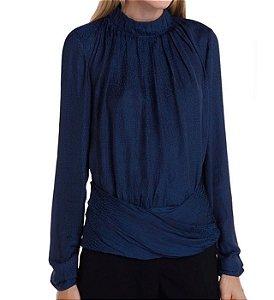 Blusa Le lis Blanc - Azul marinho