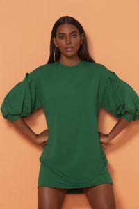Vestido Anne Fernandes Verde Bandeira