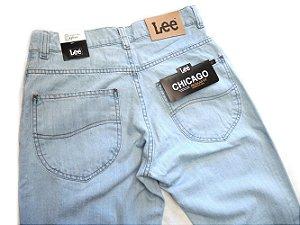 Calça Jeans Lee Chicago Masculina Tradicional Delave