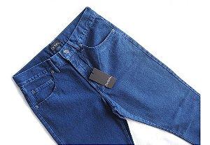 Calça Pierre Cardin Jeans Masculina Azul Tradicional 100% Algodao 274