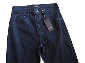 Calça Masculina Pierre Cardin De Veludo Azul Tradicional Elastano