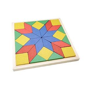 Mosaico de Madeira Brinquedo Educativo+3 Anos Simque