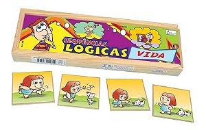 Sequencia Logica Da Vida Educativo Pedagogico Jogo Madeira Simque +4Anos