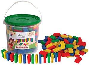 Domino Mania 300 pcs Brinquedo de Madeira +3 Anos