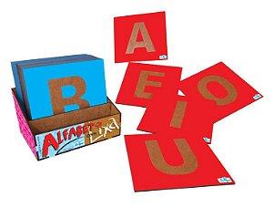 Alfabeto Lixa de Madeira Educativo Simque +4 Anos