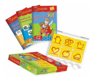 Kit Educativo Infantil Mini Criativo Luk Pedagogico Livro 2 Carimbras