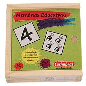 Jogo da Memória de Quantidade e Números Carimbras