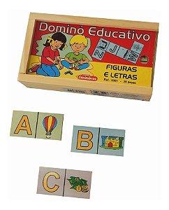 Domino Educativo Figuras E Letras Jogo Educativo Pedagogico Carimbras