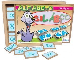 Alfabeto Silábico Brinquedo Educativo Alfabetização Simque