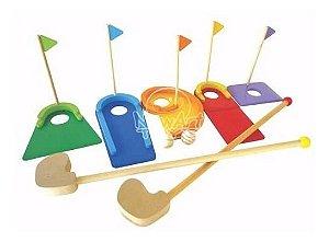Mini Golfe De Madeira Brinquedo Crianças 5 Anos Golf Newart