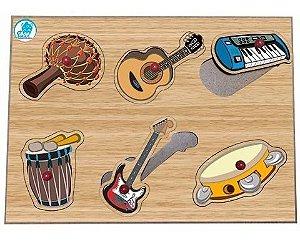 Quebra Cabeças Madeira Bebes Instrumentos Musicais Simque