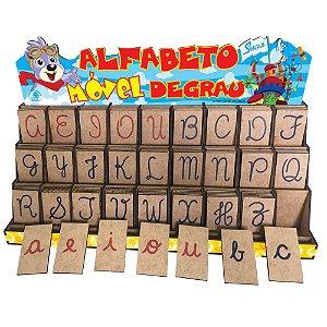Alfabeto Movel Degrau Letra Cursiva Educativo Alfabetizacao Simque 415