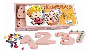Numeros Com Pinos Matematica Jogo Educativo Pedagogico