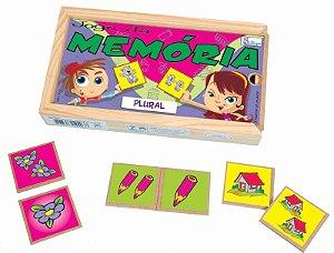 Jogo Da Memória De Plural Educativo Pedagogico Loja Simque