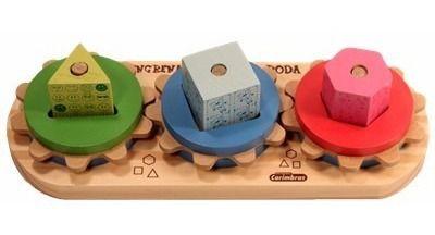 Engrena Roda Brinquedo Madeira  Educativo Pedagogico Carimbras