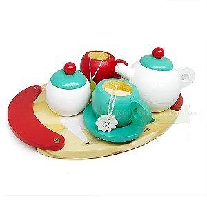 Kit Chá Comidinha de Brinquedo de Madeira Newart
