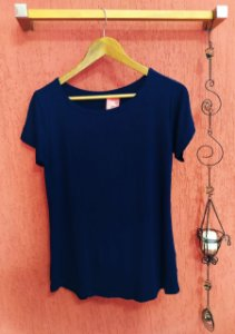 Blusa Luíza - azul marinho