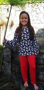 Pijama Infantil lua marinho ML