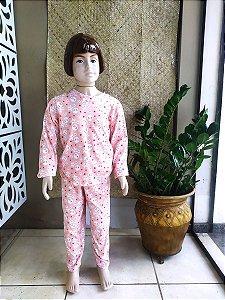 Pijama Infantil lua salmão ML