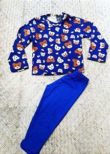 Pijama Infantil Urso azul