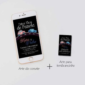 Convite Drive Thru de panela e lembrancinha - arte digital