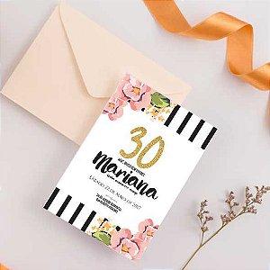 Convite 30 anos- arte digital