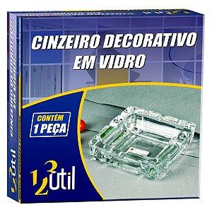 CINZEIRO DECORATIVO EM VIDRO - QUADRADO