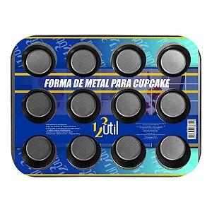 FORMA DE METAL COM 12 CAS PARA CUPCAKES