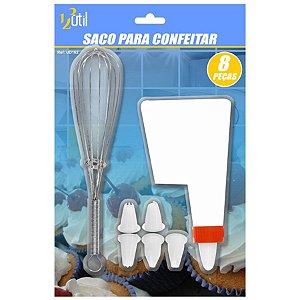 SACO PARA CONFEITAR E BATE CLARA - COM 8 PEÇAS