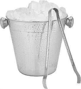 Balde Para Gelo Inox Com Pegador - 12 Cm