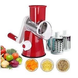Ralador Cortador Fatiador de Queijo Legumes Frutas ou Verduras - 3 Lâminas em Inox