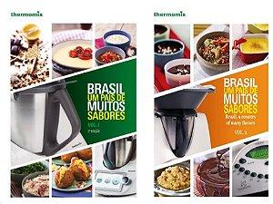 Combo Livro 1 e Livro 2 - Brasil Um País de Muitos Sabores Volumes 1 e 2  - Receitas Thermomix -