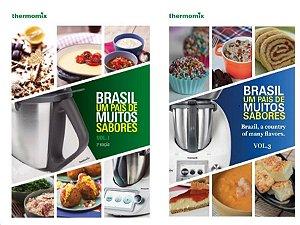 Combo Livro 1 e Livro 3 - Brasil Um Pais de Muitos Sabores - Volumes 1 e 3 - Receitas Thermomix