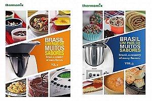 Combo Livro 2 e Livro 3 - Brasil Um Pais de Muitos Sabores - Volumes 2 e 3 - Receitas Thermomix