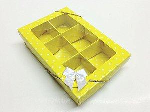 Caixa com 6 Divisões para Chocolates e Doces