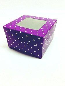 Caixa com Visor 5,5x5,5x4