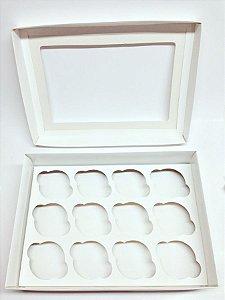 Caixa Transporte 12 Cupcakes - Branca