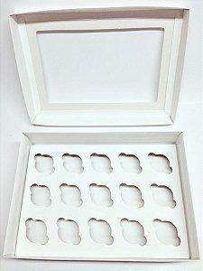 Caixa Transporte 15 Mini Cupcakes - Branca