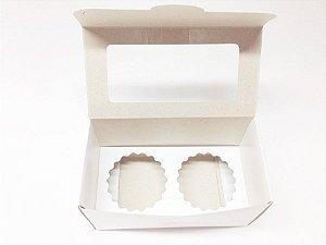 Caixa para 2 cupcake