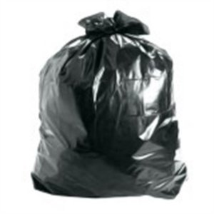 Saco de Lixo 50 litros Preto Comum - 100 unidades