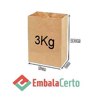 Saco de Papel Kraft para Delivery 3kg Embalacerto