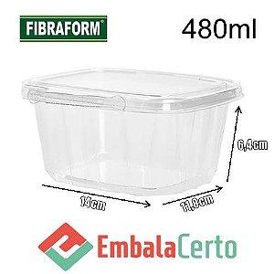 POTE PLASTICO COM LACRE 480ML