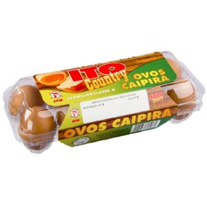 Ovos Caipira Bandeja com 10 Unidades