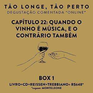 Box 1 - Degustações on-line 30/04 - Quando o Vinho é música, e o contrário também