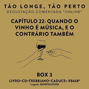 Box 3 - Degustações on-line 30/04 - Quando o Vinho é música, e o contrário também
